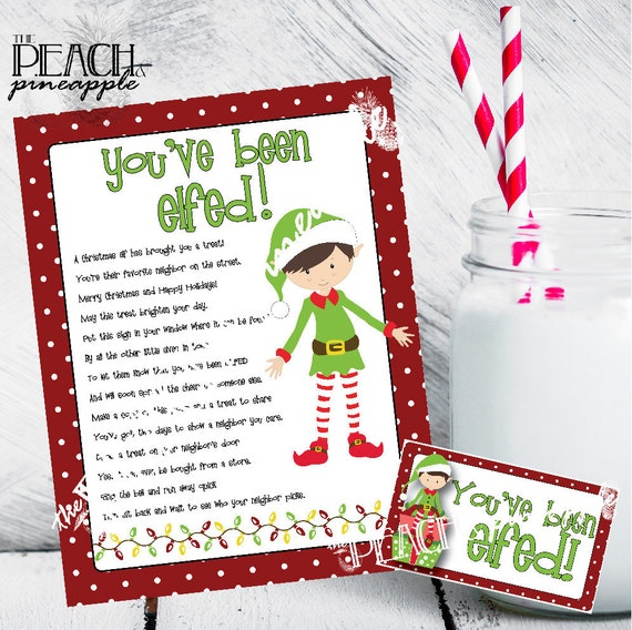 photo regarding You've Been Elfed Printable called Youve Been Elfed Indication, Elfed Indicator, Xmas Printable, Vacation Printables, Xmas Doorway Indicator