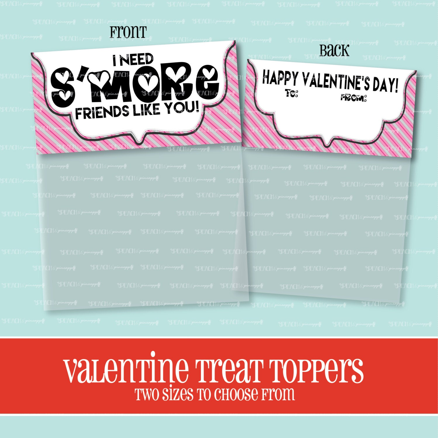 VALENTINE TREAT TOPPER S\'more Friends Like You Treat Bag | Etsy