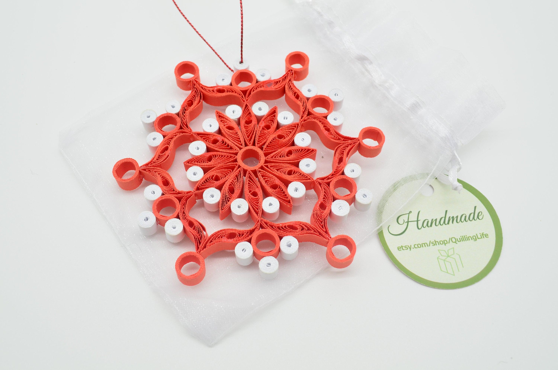 Christmas Decorations Handmade Red Snowflake Snowflake Home Decoration Handmade Gifts For Boyfriend