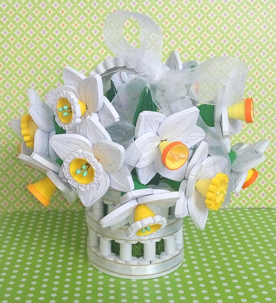 Quilling Daffodils Bouquet