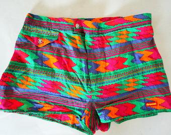 9cd4db2381 Vintage Beach Shorts / Hawaii / Boho / Small / S / 48 / Trunks / Cotton /  Swimwear / Swimming / Swim / Vacation / Trunk / Pants