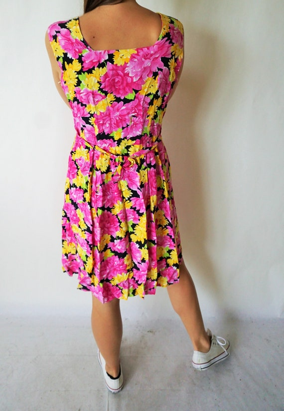 Vintage Summer Dress / Sarafan / Buttons down / F… - image 4
