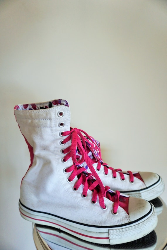 Floral ways Vintage High 5 Pink Converse White 39 Star wear 8 to Womens Shoes Boots EU 5 Flowers All Sneakers 2 qvS7wq1