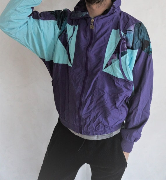 Vintage Windbreaker Jacket  Sportswear  Running  Run  Outwear Small Medium  Activewear  Tracksuit  Track Top  Sweatshirt  Parachute