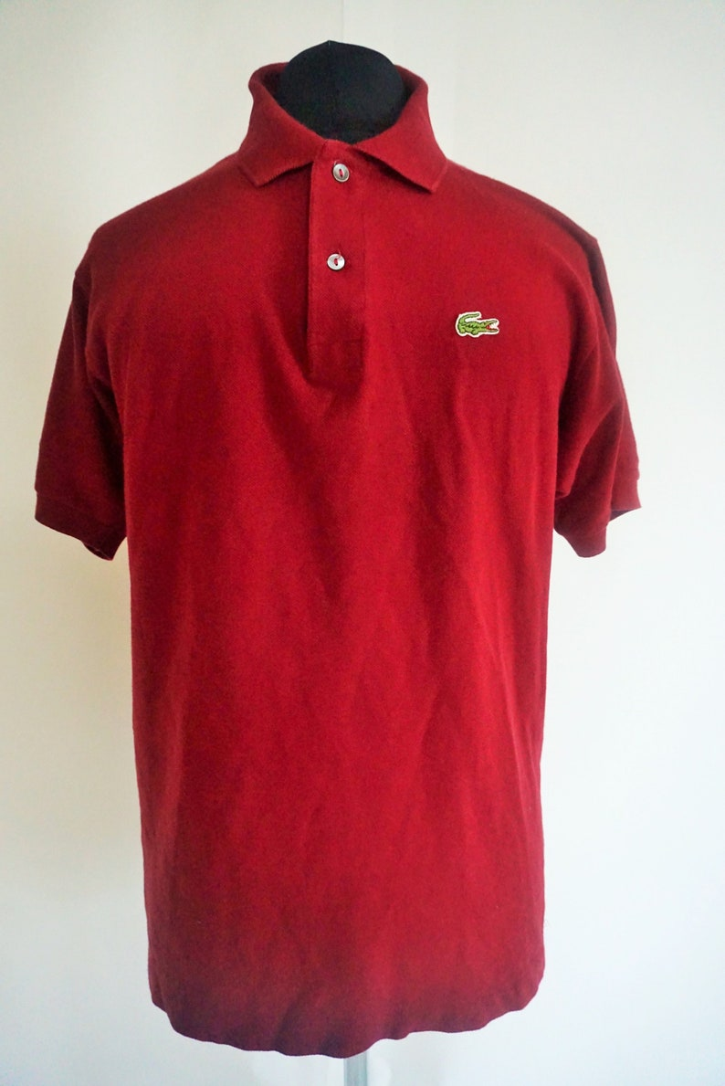 06013e4841ad1 Vintage LACOSTE polo shirt   T-shirt   Red   Maroon