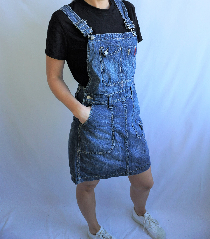 Vintage Overalls & Jumpsuits Vintage Denim Lee OverallsS M Onepiece One Piece Romper Jumpsuit Skirts Overall 90S Pregnant Pregnacy Dungarees $14.00 AT vintagedancer.com