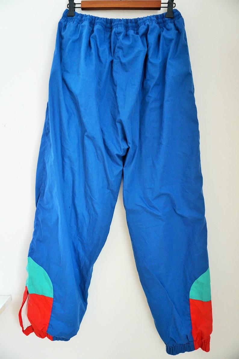 Vintage Trainers  Sweatpants  Pants  Large  L XL  Tracksuit  Track  Trousers  Sportswear  Blue  Joggers  Running Gear  Parachute