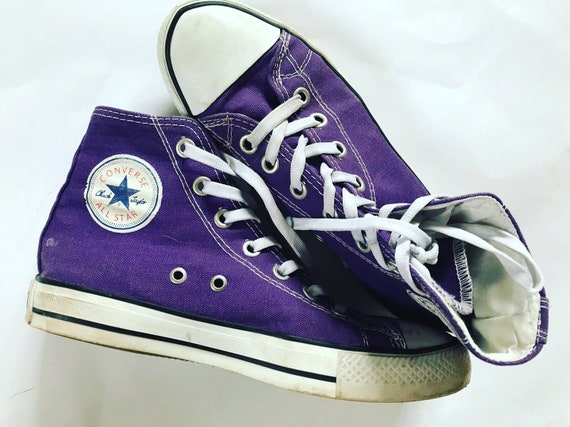 Vintage Converse Sneakers   Purple   High   Boots   All Star    d2f05b2ea