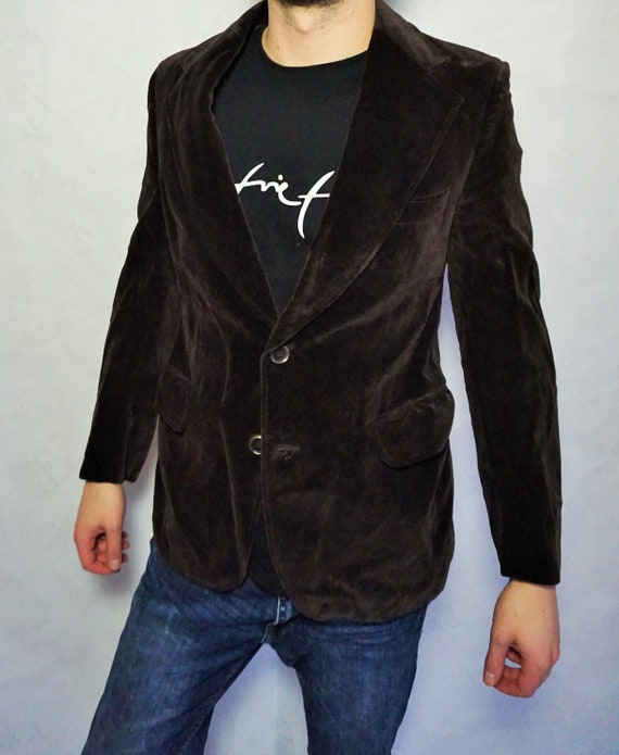 Vintage Mens Velvet Jacket / Smoking jacket / Blaz
