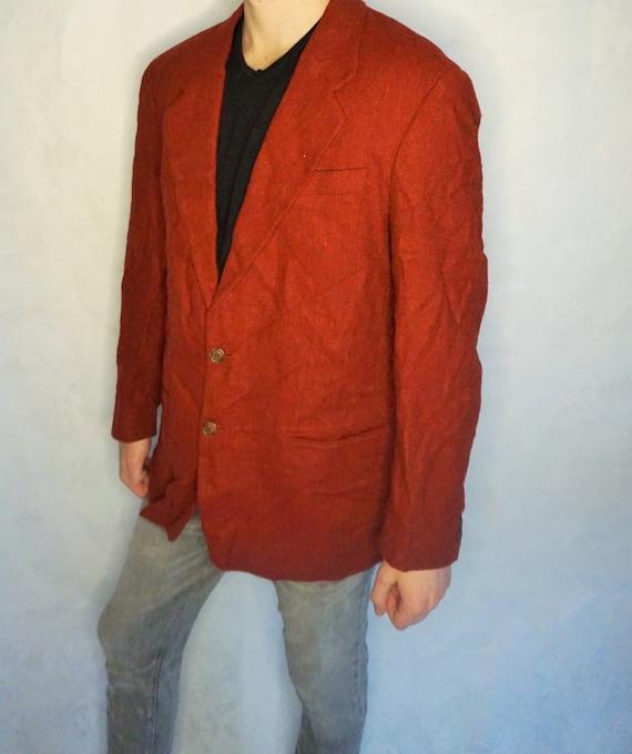 Vintage Mens Jacket / Pure Wool Smoking jacket / B