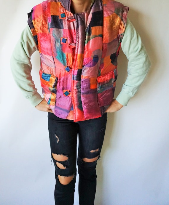 Vintage Skiing Vest / Warm / Sporty / Ski Suit/ Ou