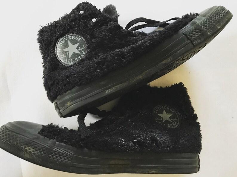 Vintage Converse Sneakers   Black   Fake fur   Boots  8f06fda1a