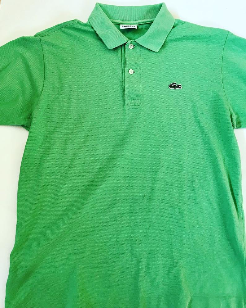 9f50b3ae3 Vintage LACOSTE polo shirt   T-shirt   Green   Sportswear