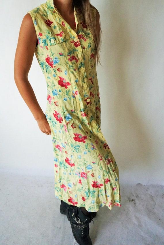 Vintage Summer Dress / Sarafan / Buttons / Floral… - image 3
