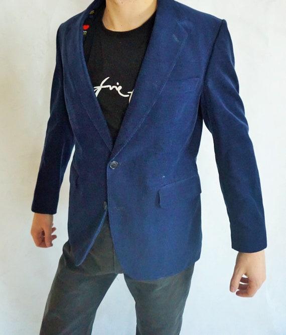 Vintage Mens Velvet Blazer / Coat / Jacket / Smoki