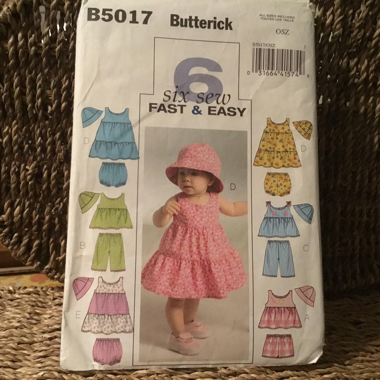 Butterick patrones B5017 todos los tamaños de los bebés superior//vestido//Bragas Pantalones Cortos////...