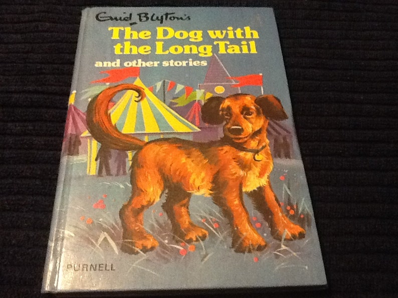 Enid Blyton's The dog with the long tail and other stories, first edition,  childrens books, bedtime stories, vintage dog book, family book