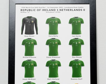Ireland v Netherlands World Cup 2002 Qualifier Poster