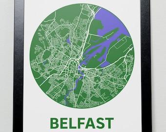 Belfast - GPS Map Poster