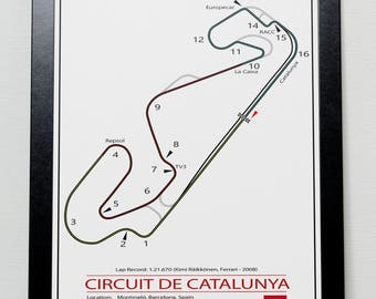 Catalunya Grand Prix Track illustration Poster