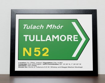Irish Road signs - TULLAMORE, Co Offaly