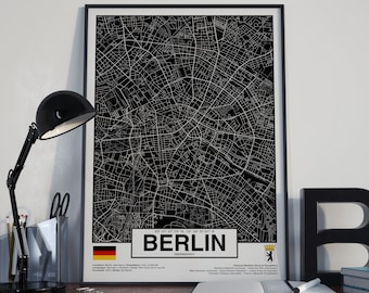 Berlin Germany - GPS Map Poster
