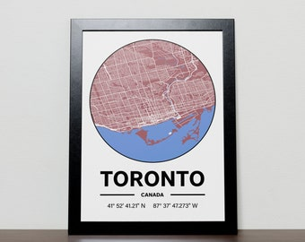Toronto Canada - GPS Map Poster