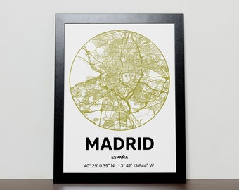 Madrid - GPS Map Poster