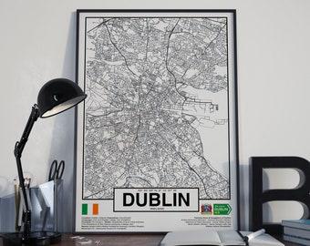 Dublin City Ireland poster - World Cities