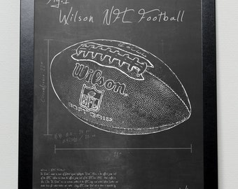Wilson NFL football  patent poster