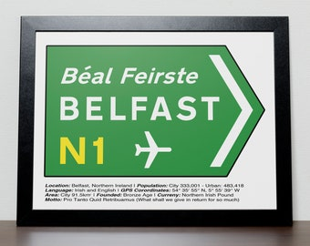 Irish Road signs - BELFAST