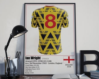 Arsenal Football Legends Poster Ian Wright
