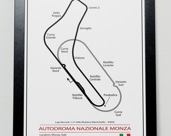 Monza Grand Prix Track illustration Poster