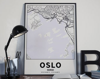 Oslo Norway - GPS Map Poster