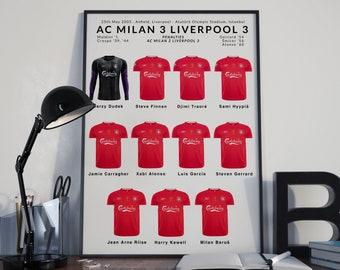 Milan v Liverpool Champions League winners 2005