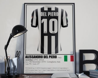Juventus Football Legends Poster Del Piero