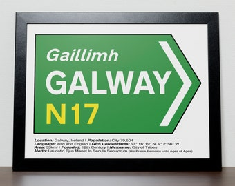 Irish Road signs - GALWAY