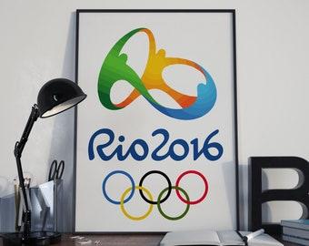 Rio De Janeiro Olympic Games 2016 Poster