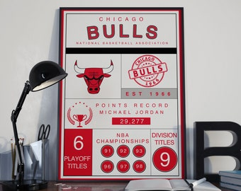 Chicago Bulls Infographic Poster