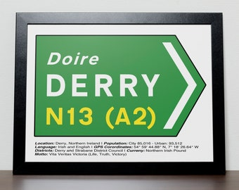 Irish Road signs - DERRY