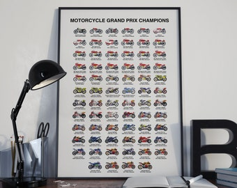 The History of MOTO GP World Champions Poster - MotoGP