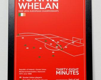 Ireland Ronnie Whelan Goal Poster - Euro 1988