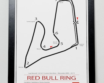 Red Bull Ring Austrian Grand Prix Track illustration Poster