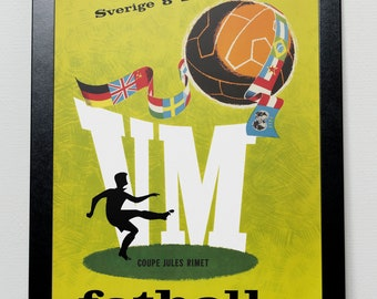 World Cup 1958 poster Sweden Sverige