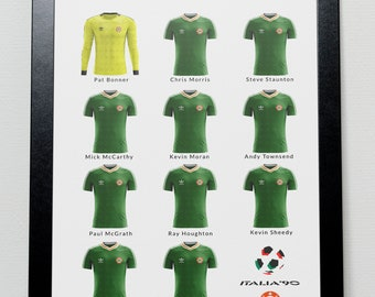 Ireland v England World Cup 1990 Poster