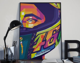 Valentino Rossi Poster - MotoGP