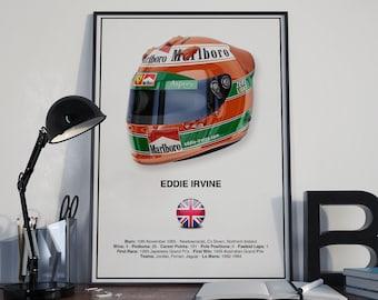 Eddie Irvine Helmet Poster