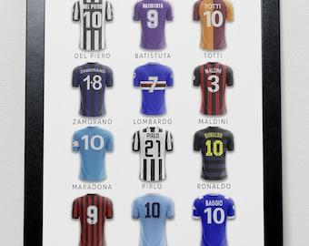 Cult Heroes of Italian Football Poster