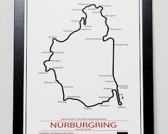 Nurburgring Grand Prix Track illustration Poster