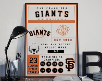 San Francisco Giants Infographic Poster